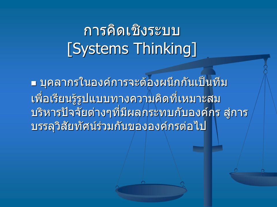 การคิดเชิงระบบ [Systems Thinking]